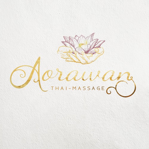 Calligraphy brand with the title 'Aorawan'