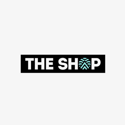 Swim design with the title 'The SHOP Logo design '
