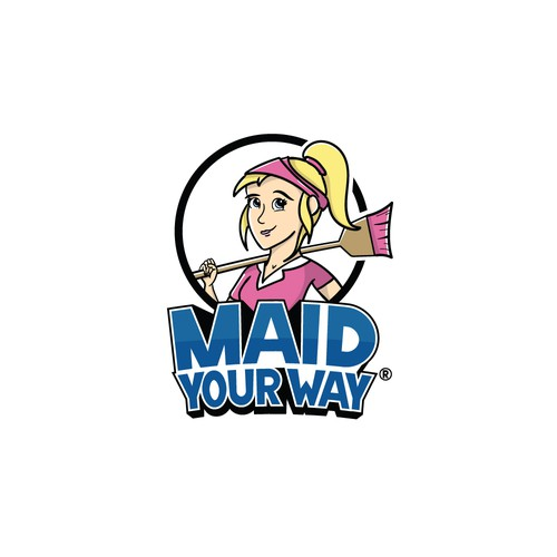 Broom design with the title 'Fun logo concept for Maid service.'