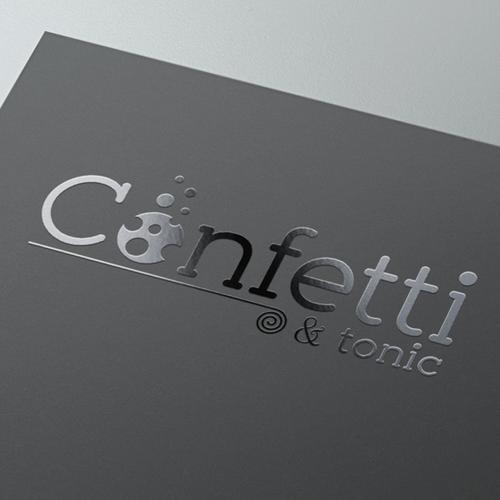 Celebration design with the title 'Logo for Confetti & tonic'
