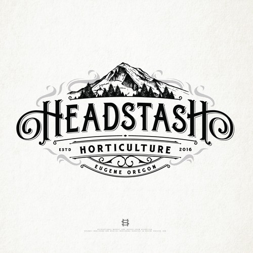 Organic design with the title 'Headstash horticulture/medical marijuana co from eugene oregon'