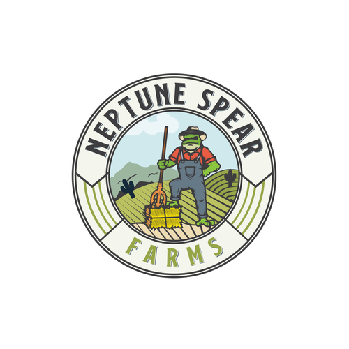 Spear design with the title 'Neptune Spear Farms'