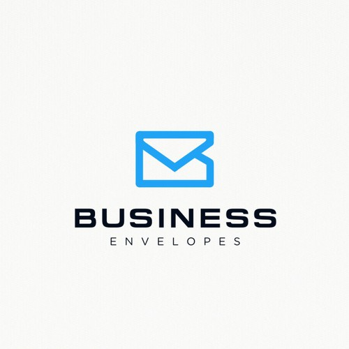 Envelope logo with the title 'Modern line-work for Business Envelopes'