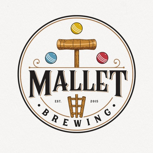 Ball design with the title 'Mallet Brewing'