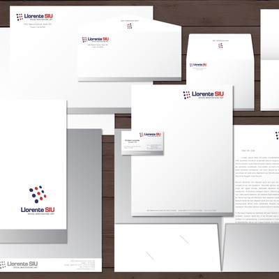 Create the next stationery for Llorente SIU