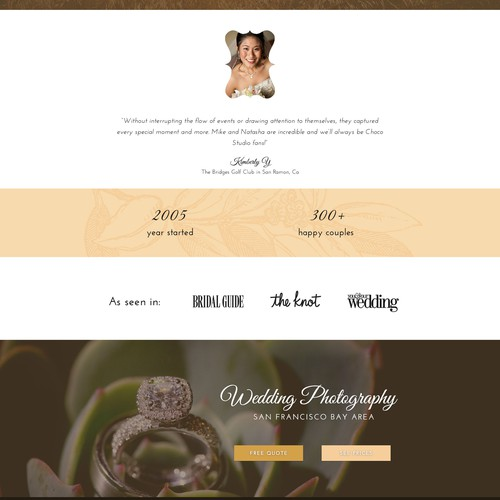 Wedding website with the title 'Wedding photography site '