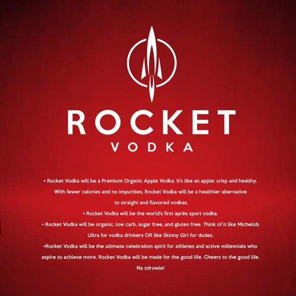 Vodka logo with the title 'Vodka logo design'