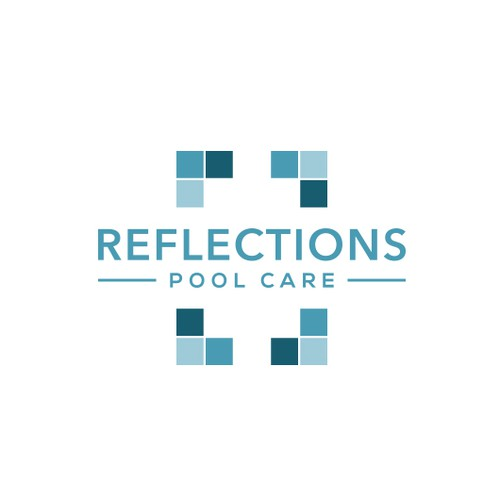 Cleaning company logo with the title 'Reflections Pool Care'