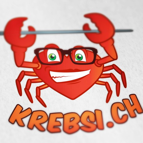 Cancer logo with the title 'Crabby Logo'