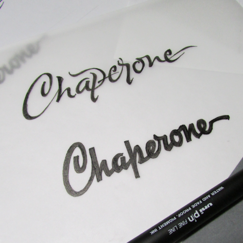 Calligraphy brand with the title 'Chaperone'