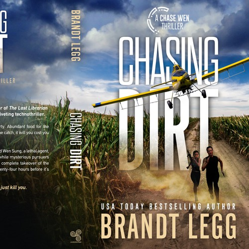 Adventure book cover with the title 'Chasing Dirt - A Chase Wen Thriller'