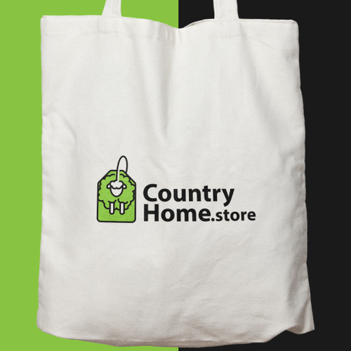 Online store logo with the title 'online shop logo'