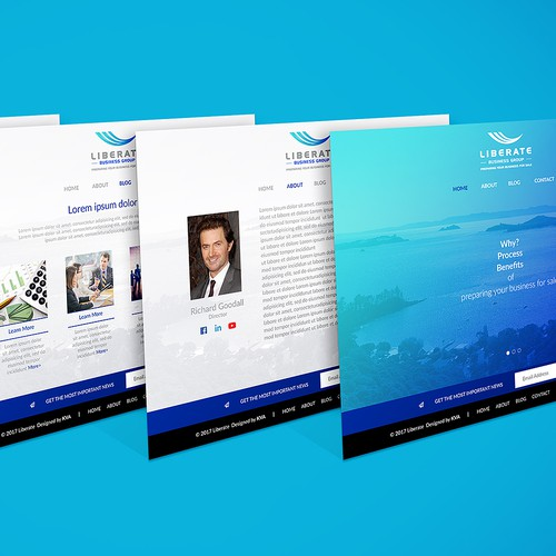 Capital design with the title 'Liberate Business Group'