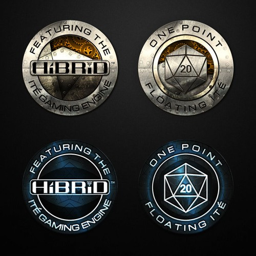 Coin design with the title 'Create a logo for a Brand New, free-wheeling, fast-action roleplaying game'