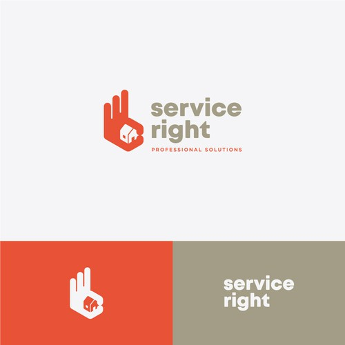 Right design with the title 'The right service '