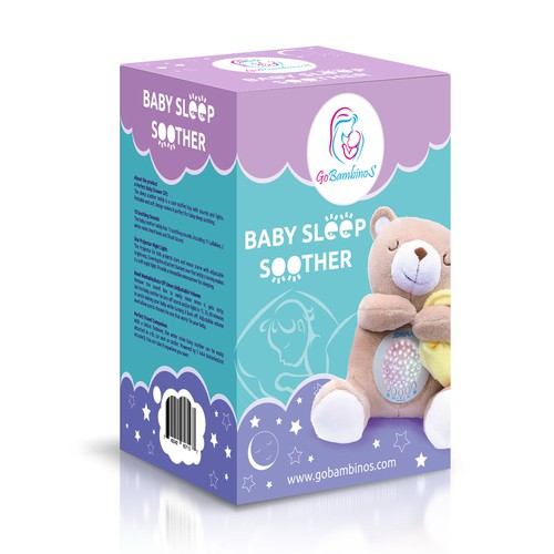 Newborn design with the title 'Design Pack Baby Sleep Soother'