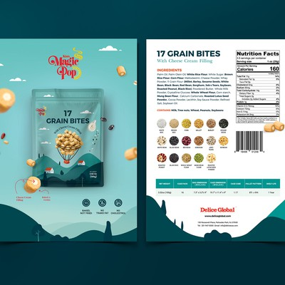 Sell Sheet for Grain Snack