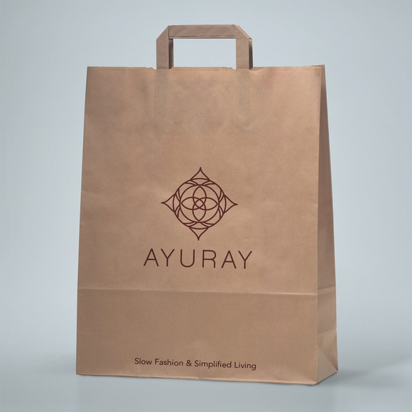 Zen brand with the title 'logo for 100% Organic or Sustainable fabrics Ayuray'