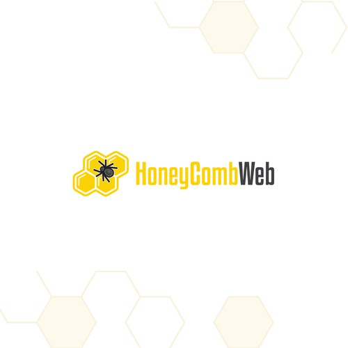 Spider logo with the title 'Honey Comb Web'