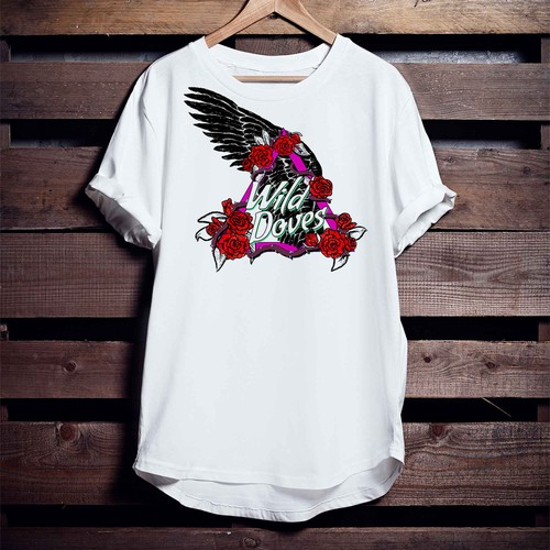 Feminine t-shirt with the title 'Vintage rock t shirt for women'