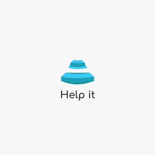 "Helping logo with the title 'healthcare services booking app called ""help it""'"