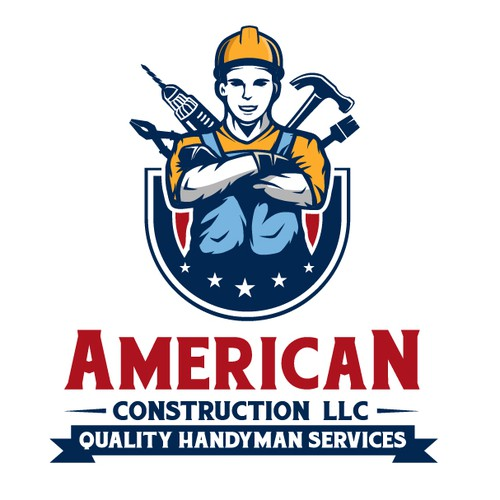 Home service logo with the title 'American Construction, LLC'