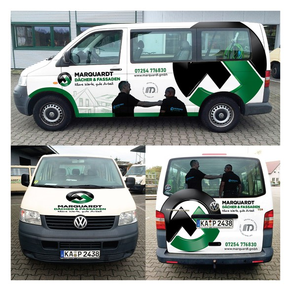 Vehicle graphic design with the title 'Car Wrap Design'