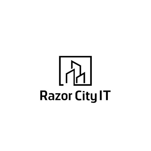 Creative design logo with the title 'Razor City IT'