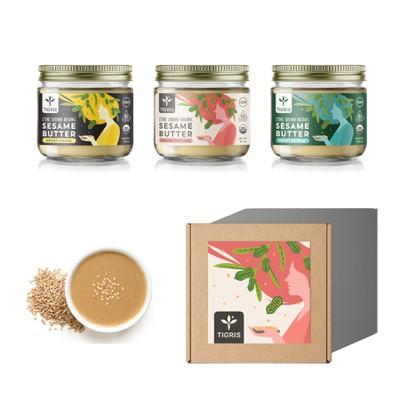 Labels design for sesame butters