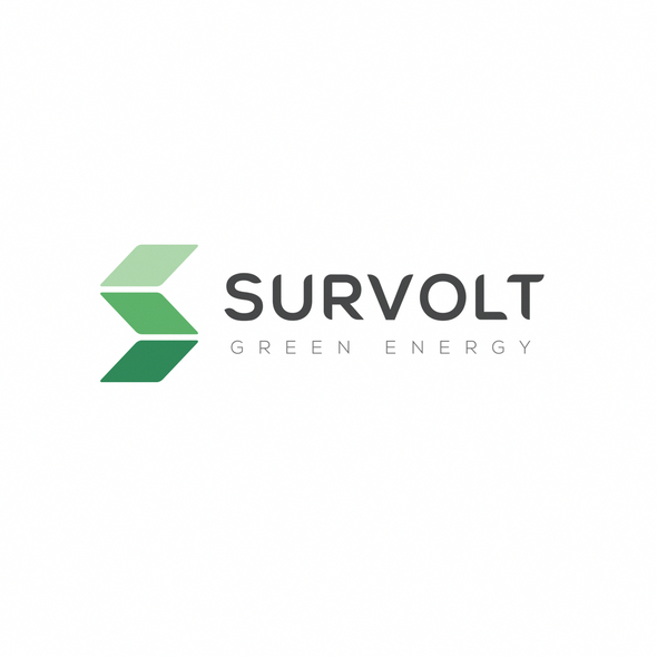 Green energy logo with the title 'Solar energy company logo'