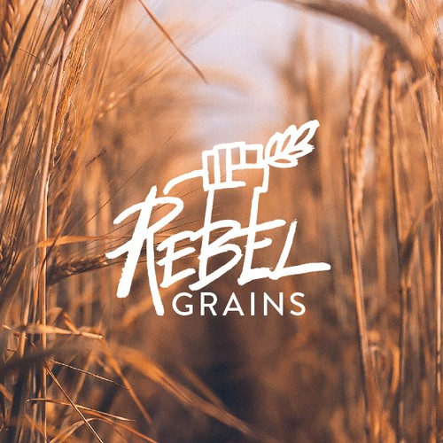 Logo with the title 'Rebel grains'