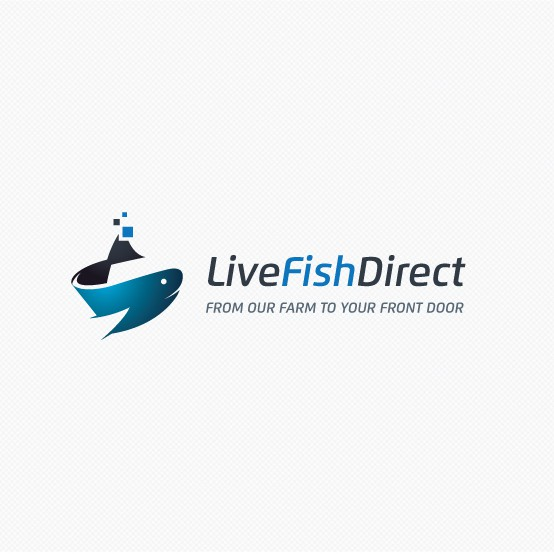 Seafood design with the title 'Help LiveFishDirect.com with a new logo'