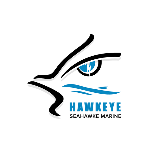 Haven logo with the title 'Logo Design for Hawkeye Seahawke Marine'