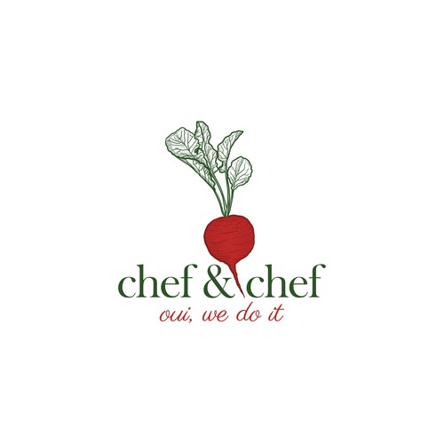 Logo with the title 'Vibrant radish for chef'