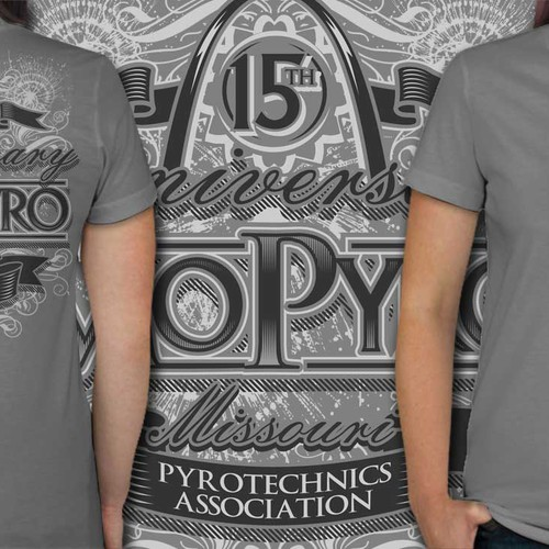 Anniversary design with the title 'ANNYVERSARY T SHIRT'