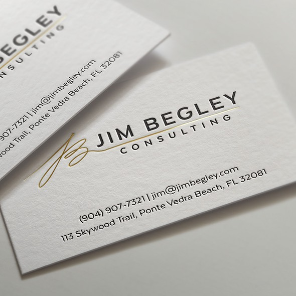 Signature brand with the title 'Jim Begley Consulting'