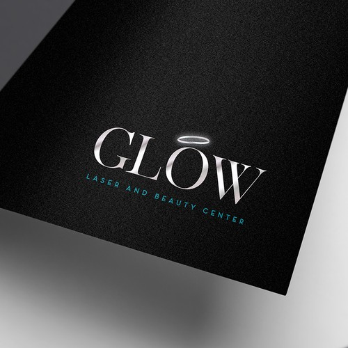 Facial logo with the title 'Glow  Laser and Beauty Center'