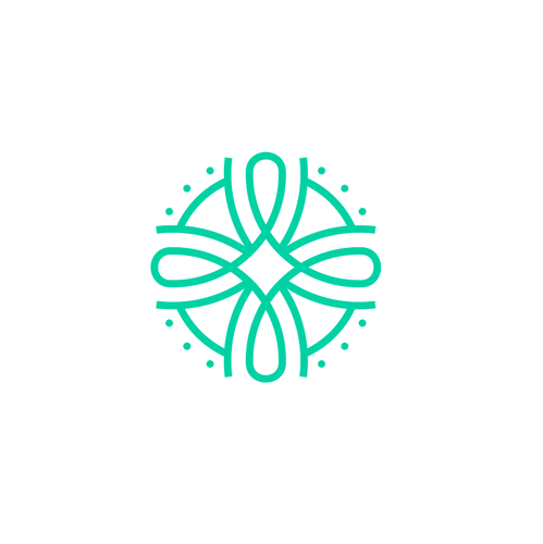 Celtic knot logo with the title 'Abstract symbol'