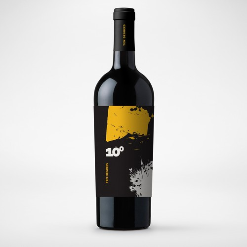 Wine packaging with the title 'Ten Degrees - Red Wine'
