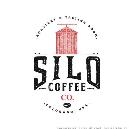 Coffee bean logo with the title 'Logo for Silo Coffee Co.'