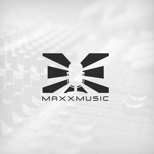 Rock logo with the title 'Maxx Music'