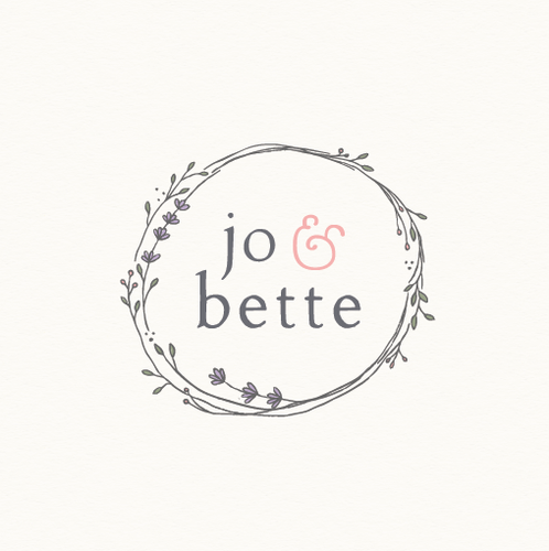 Botanical logo with the title 'jo & bette'