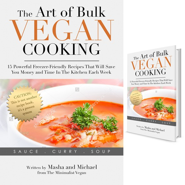 Cooking book cover with the title 'Vegan Cooking'