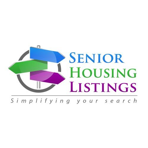 Senior logo with the title 'Logo for online start up: Senior Housing Listings'
