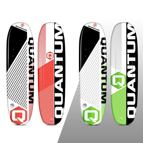 Paddle board design with the title 'Quantum Water Ski'