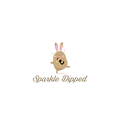 Kawaii logo with the title 'super fun/glam/kawaii logo for Sparkle Dipped'