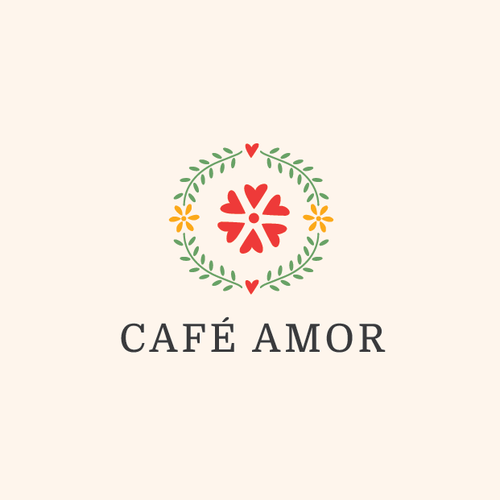 Embroidery design with the title 'Logo for a mexican cafe'