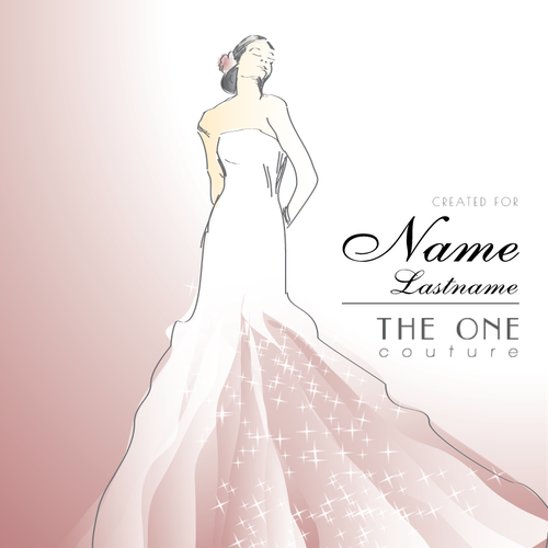 Bridal design with the title 'New illustration for wedding services company'