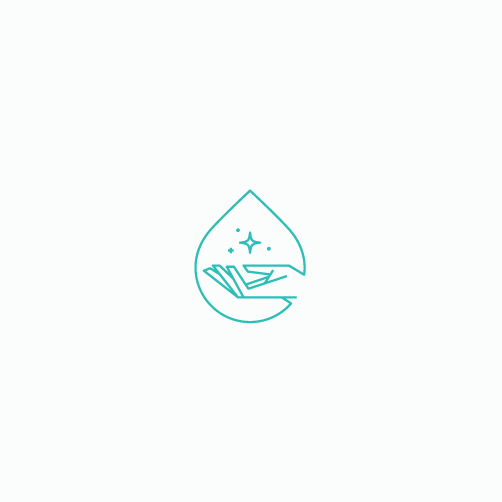 Safe design with the title 'Personal hygiene logo'