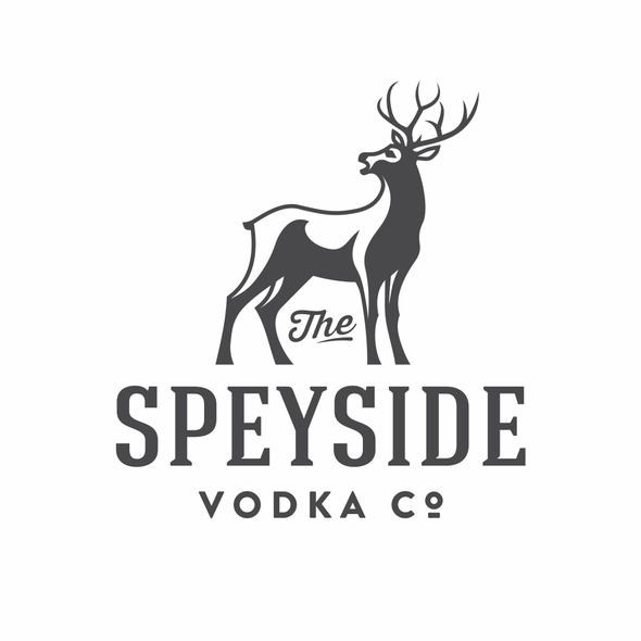 Fauna design with the title 'Speyside Vodka Co.'